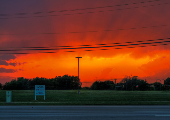 7) An astonishing sunset in North Richland Hills, Texas!