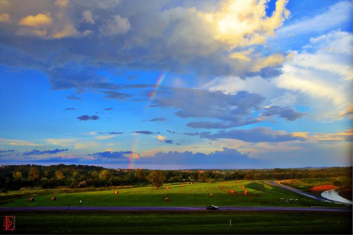 10. Watercolor skies over Clinton.