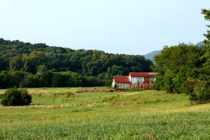 8. This old farm is located in Huntsville, Alabama.