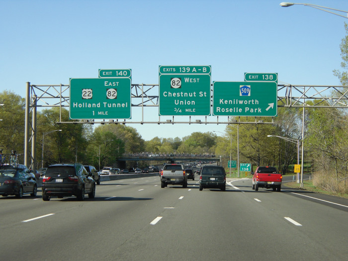 2. The Garden State Parkway on summer weekends.