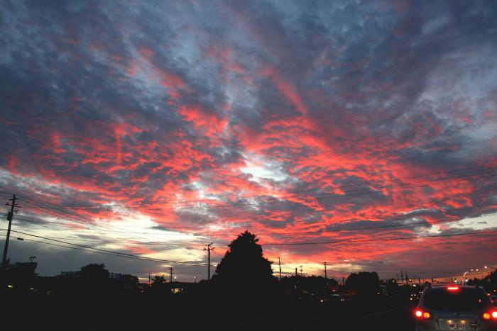 6. A striking sky in Georgia.