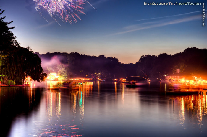 2. Fourth of July gone mad at Lake Thoreau in Reston.