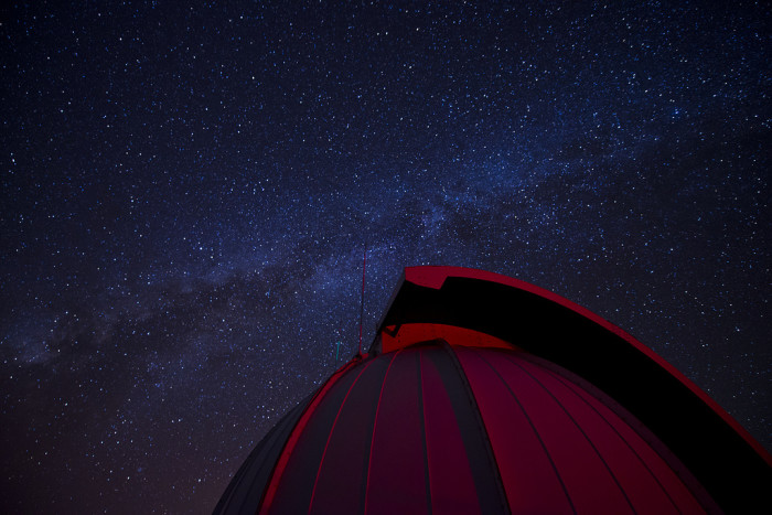 5) The Milky Way as seen over an Air Force refractive telescope at the Maui Space Surveillance Complex.