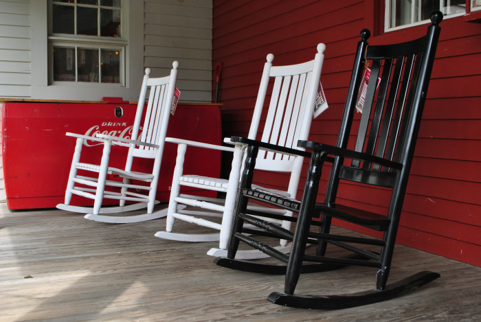 5) Everyone is front porch sittin'.