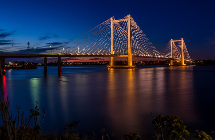 7. A majestic photo of the Cable Bridge that connects Pasco and Kennewick.