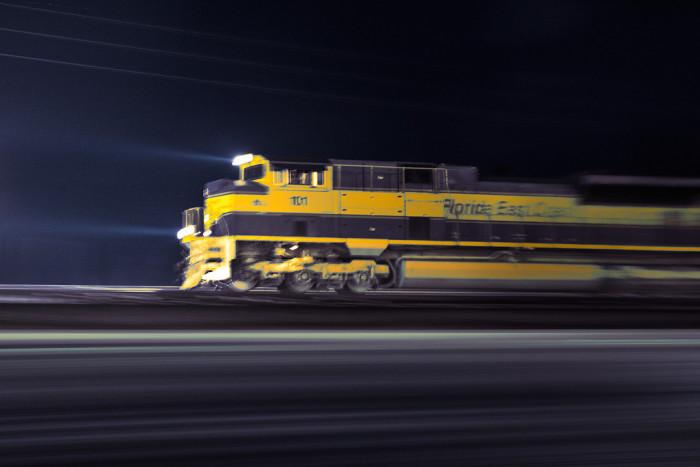 16. Speeding train in Stuart
