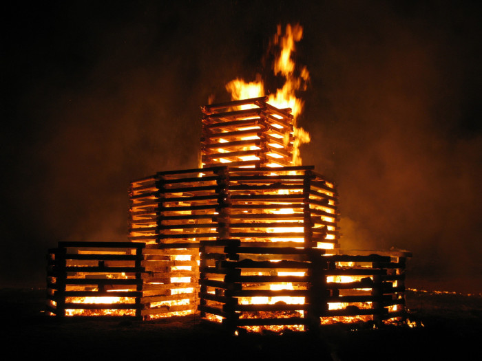 6. This is a picture of the 2010 bonfire at Rose-Hulman. Obviously, this picture wouldn't be as incredible if it weren't for the night sky.
