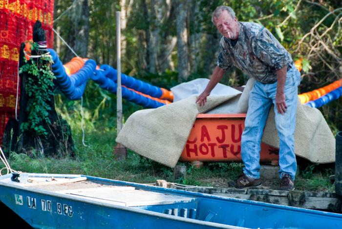 7) Cajun version of a hot tub...