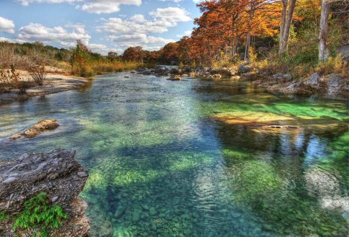 8) Look at that emerald green color of the Frio River at Garner State Park! Just gorgeous!