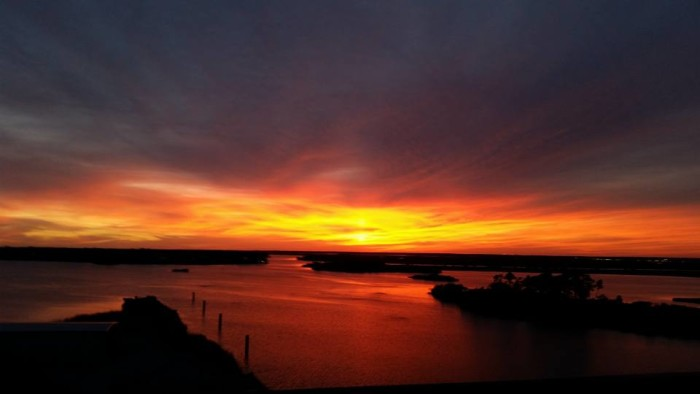 5. A Moss Point sunset paints the sky with gorgeous, bold hues.