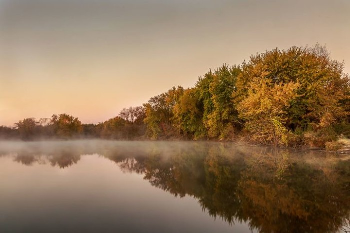 5. Patrick Trepp captured a magical photo of the fog rolling over the river in Cedar Falls.