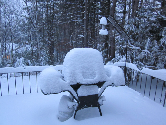 6. We'll grill in literally any type of weather.