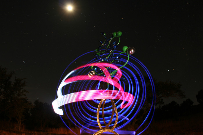 """13) """"LaPosa's Bluebonnet,"""" a phenomenal light painting captured by Andrew Nourse at Benini Ranch."""