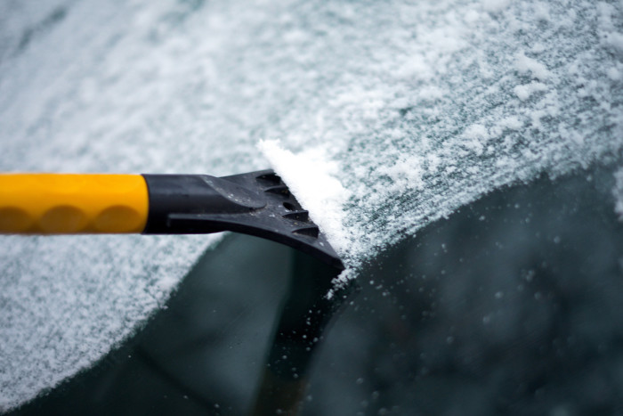5. And we get to experience the joy of scraping a frozen windshield every day.