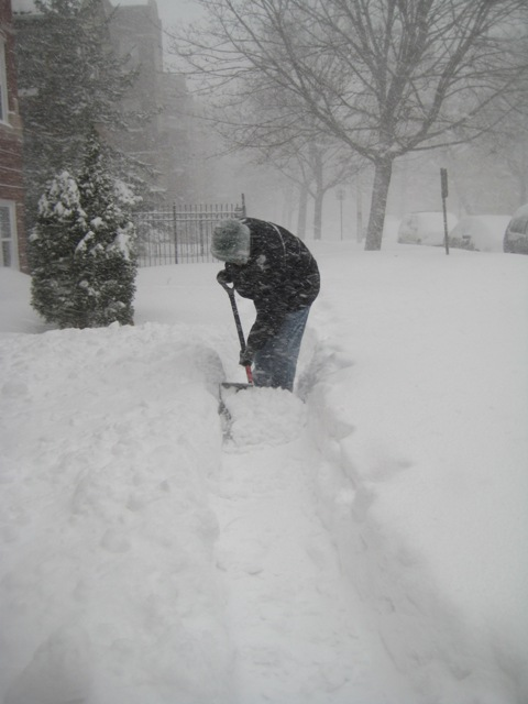 12. Can Dad really handle another winter of snow shoveling?
