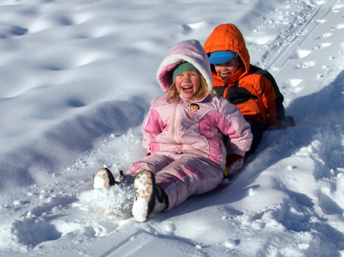 6) Snow day!