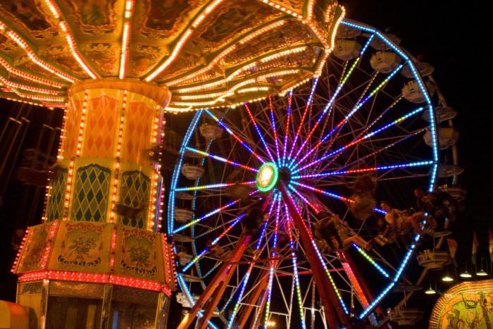 6. Fair rides at night