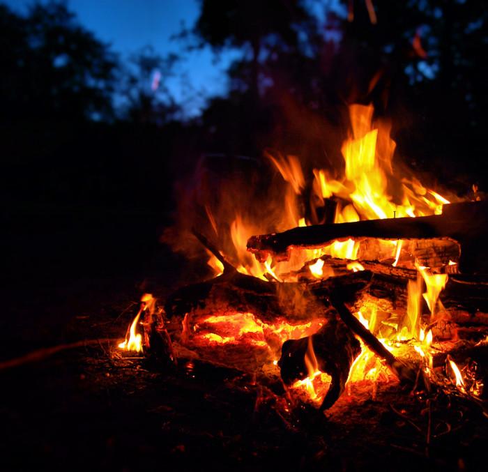 11. Campfire in San Mateo (Northeast Florida)