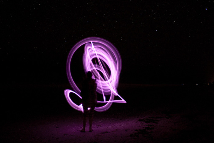 8. Painting with light in Sanibel