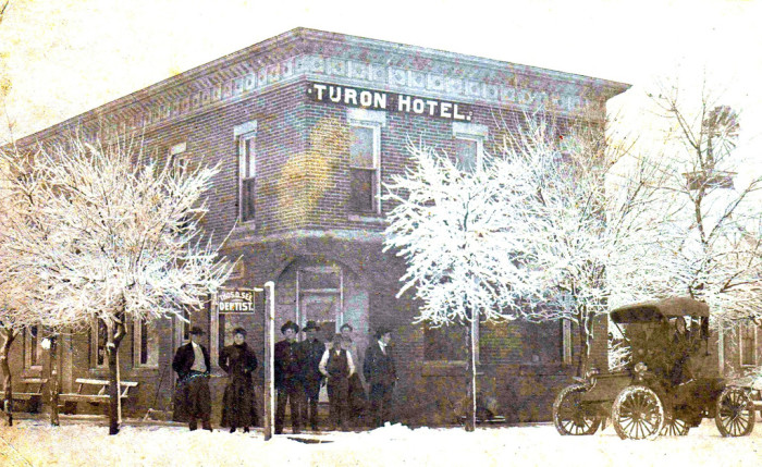 """2. """"The Turon Hotel in Turon, Kansas in about 1910."""""""