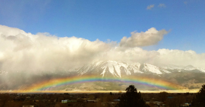 8. This fantastic rainbow was captured in  Washoe Valley on Easter morning.