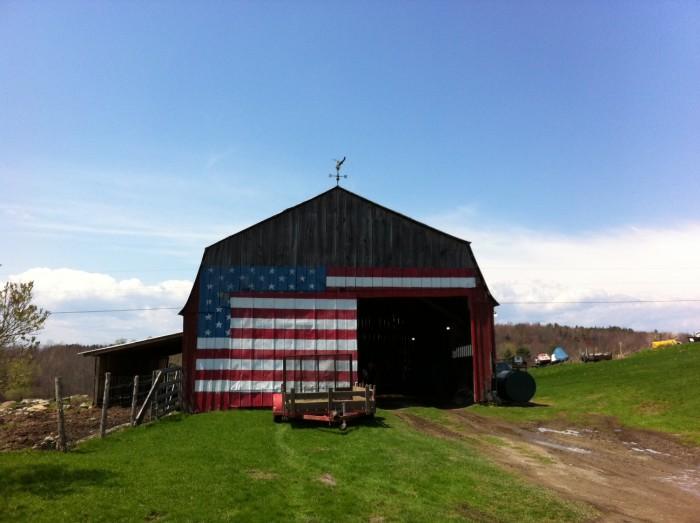 13) This patriotic one near Williston.