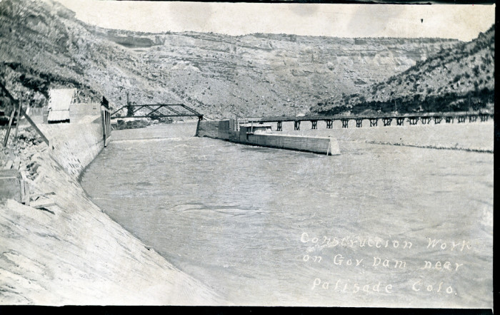 "9. ""Construction Work on Gov. Dam near Palisade Colo."""