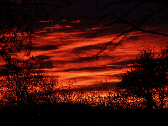 14. Vivid colors in an early morning sky
