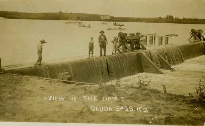 """7. """"Geuda Springs Dam."""""""