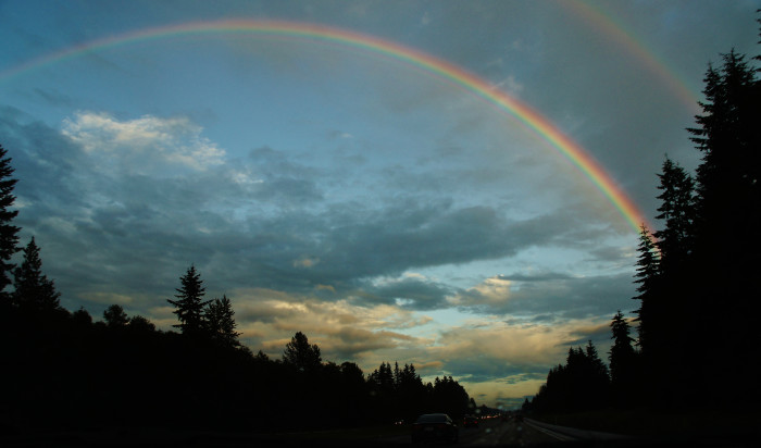 4. This amazing photo was taken near Everett  looking south on Interstate 5.