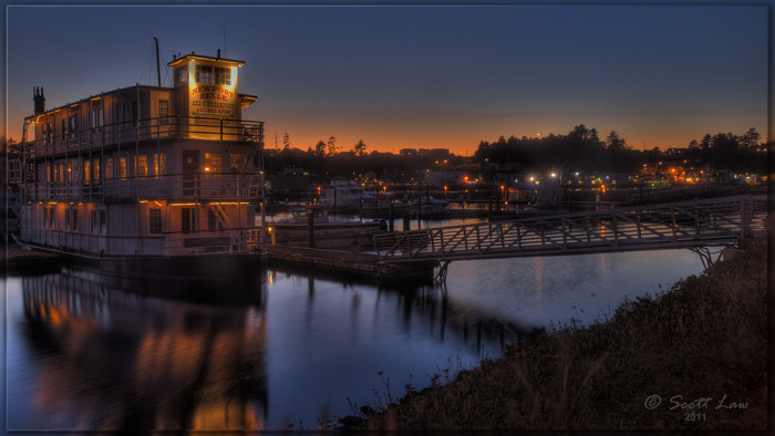 6) The Newport Belle just before dawn.