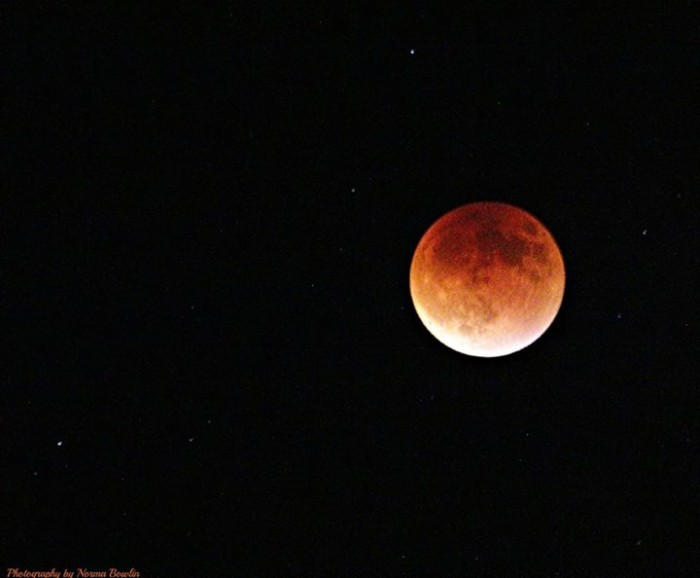 6. Another awesome moon shot! This blood moon was photographed in southwest Mississippi.