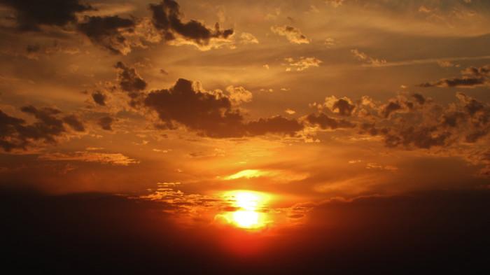 1) Surreal sunrise.