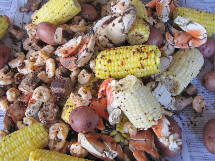 Lowcountry boil. Even if someone else came up with the combinations it wouldn't taste as good.