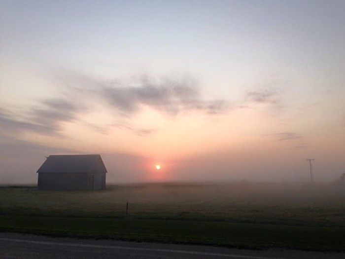 6. Chelsea Hartson took this somewhat eerie photo of a foggy sunrise in Blairstown.