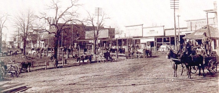 6. Taken in the early part of the century, this shot shows Iuka's downtown area not too long after the city was founded in 1857.