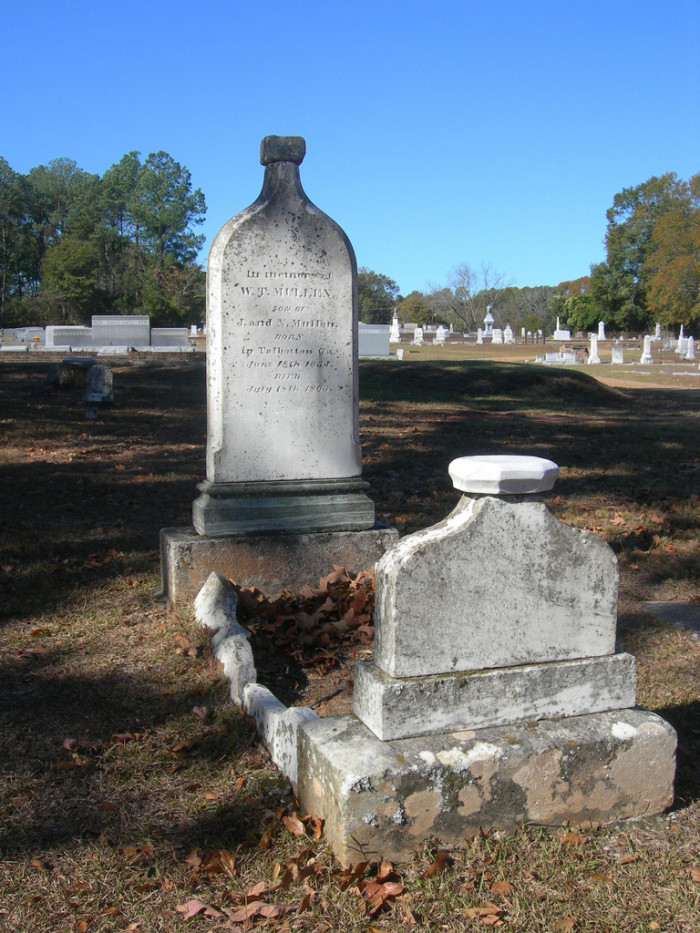 5. Whiskey Bottle Tombstone - Clayton, Alabama