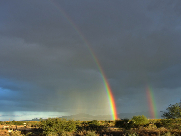 6. Finding a rainbow while on a road trip is great. Finding two is even better! These were found near Green Valley.