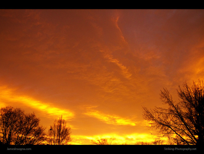5. Fiery skies over Boulder County.