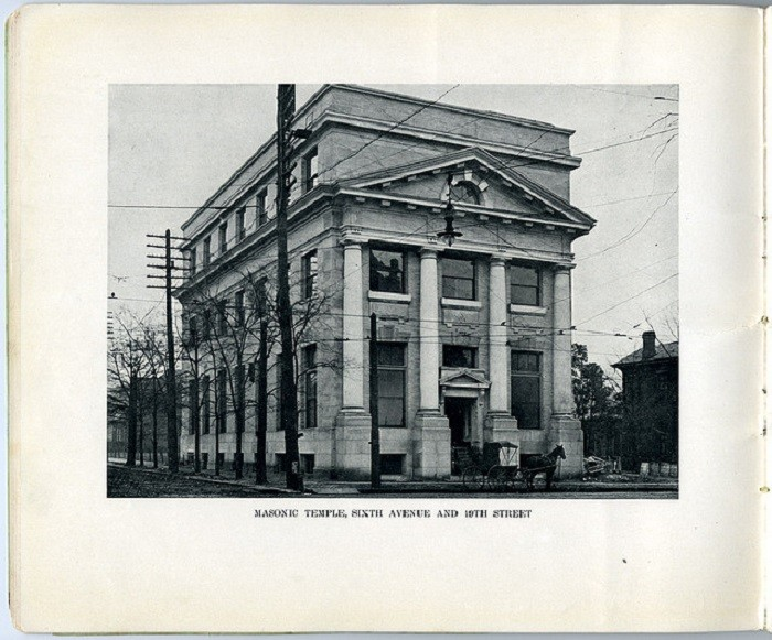6. The Masonic Temple in Birmingham, Alabama in 1908.