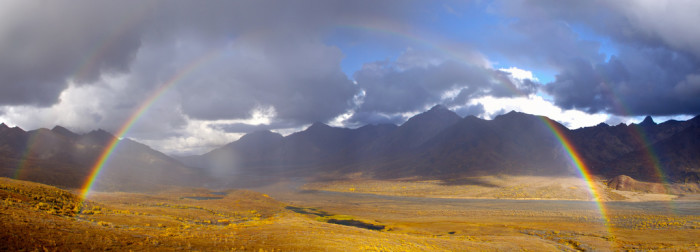 8) Wow! Another great double rainbow over Denali.