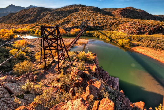 10. The Verde River is best known for its riparian area in the Verde Valley that supports a large variety of trees, as well as fish and other animals.