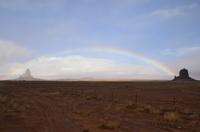 10. El Capitan, also known as Agathla Peak at Monument Valley, makes a great location for viewing a rainbow.