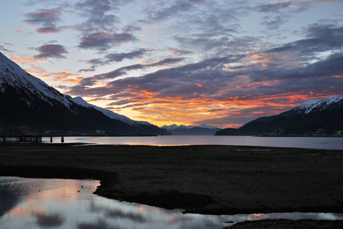 2) A sunrise in Juneau.