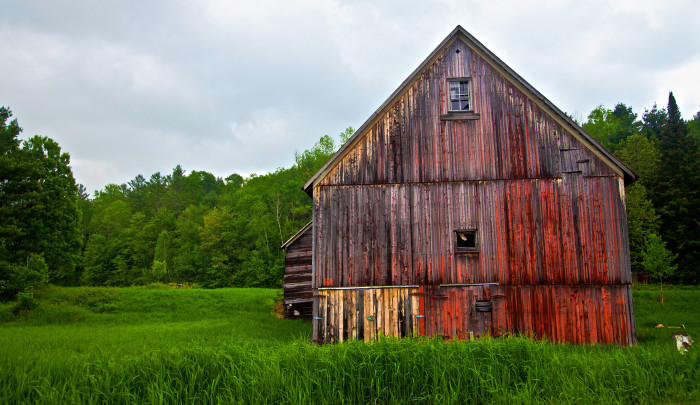 1) This beautifully weathered barn on Route 14 near South Woodbury.