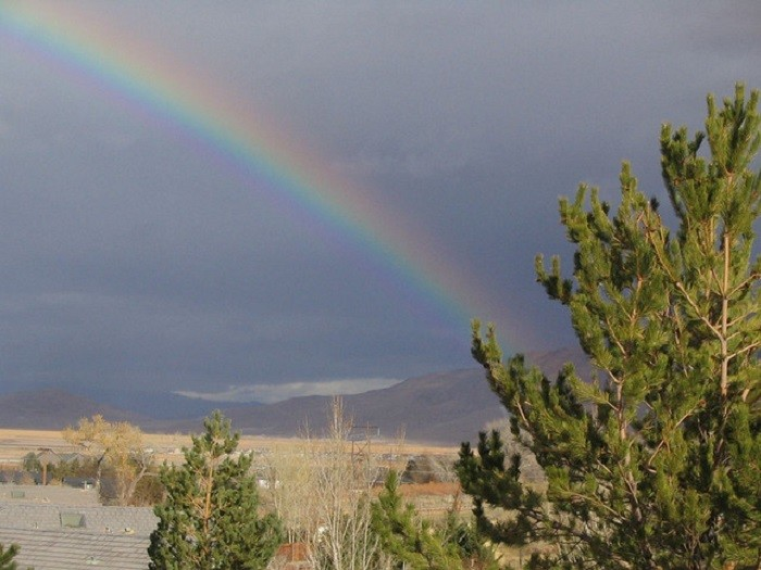 9. This rainbow is overlooking Reno. I love that this photo is simple, yet dramatic at the same time.
