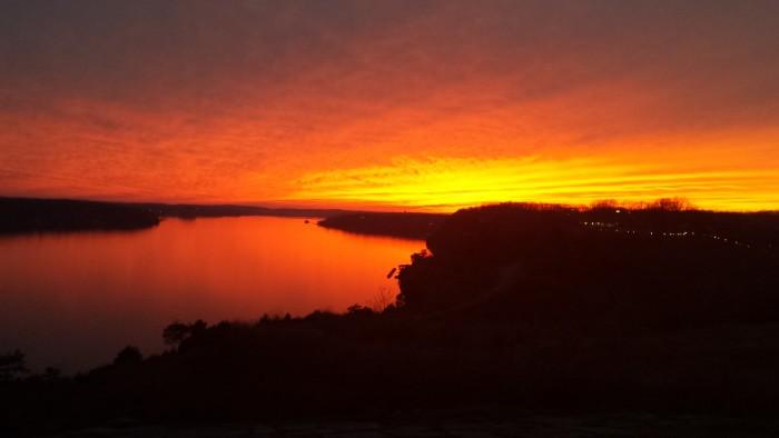 7. Another beautiful sunset at Lake of the Ozarks. Taken by Rick Eldridge.