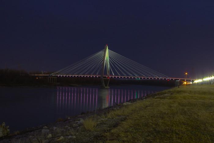 7. Suspension Bridge, Kansas City, spanning the Missouri River
