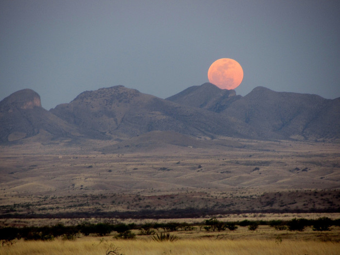 12. This stunning image is of 2012's supermoon which was taken near Sonoita.