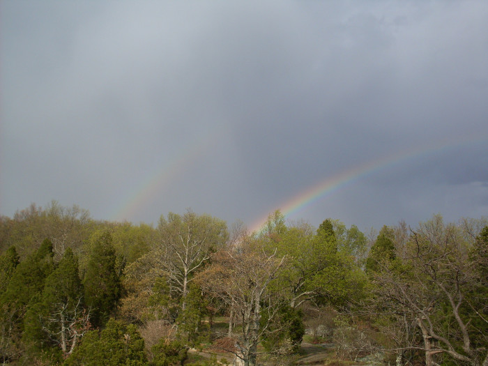 8. Here is another pretty picture of a rainbow in Evansville.